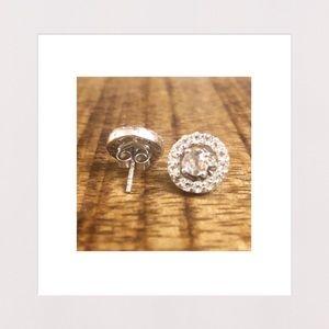 Jewelry - NEW | White Topaz & Sterling Silver Stud Earrings